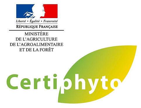 Notre entreprise est certifié par la DRAAF pour les Certiphytos
