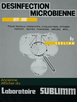 Affiche désinfection microbienne