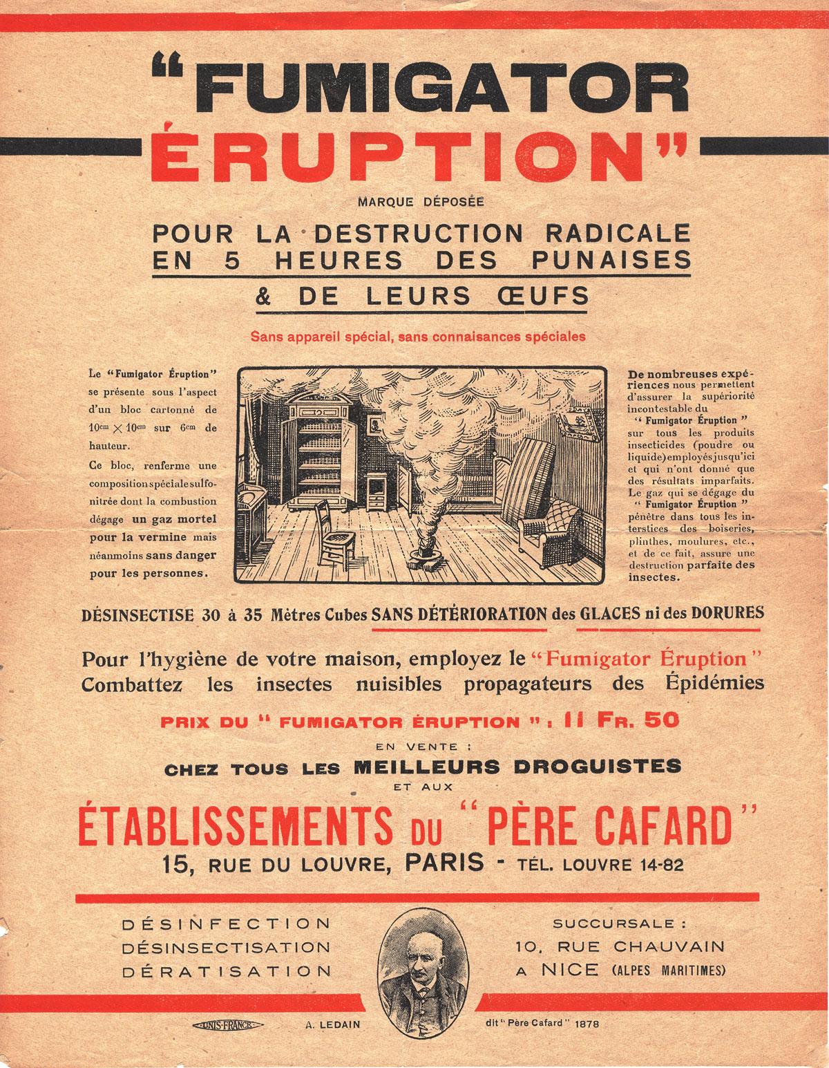 Fumigator Eruption du Père Cafard
