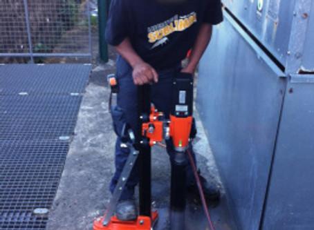 Carottages béton pour installation Sentri Tech