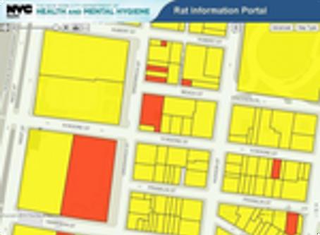 Les rats à New York cartographié au travers d'un logiciel sur le web