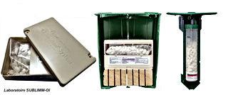 Les pièges Sentri tech anti termites détruisent la ou les termitières. Procédé très efficace.