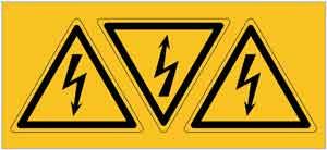 Avertissement de danger électrique pour le RatMat