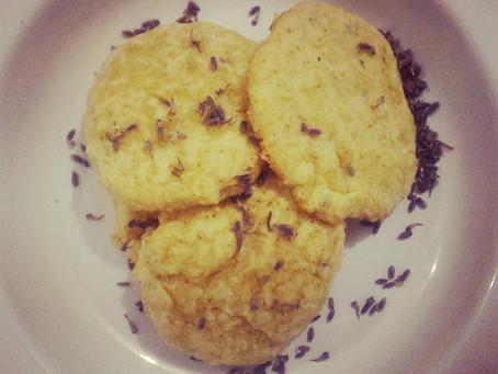 Biscoitos de lavanda