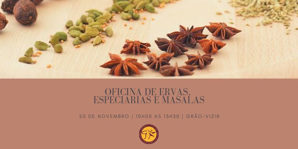 Oficina de Ervas, Especiarias e Masalas - Tempere seus sentidos (20 de novembro de 2019)