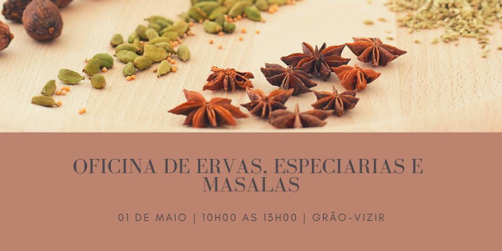 Oficina de Ervas, Especiarias e Masalas - Tempere seus sentidos