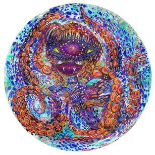 Hypnotic octopus. Round Indian paper.jpg