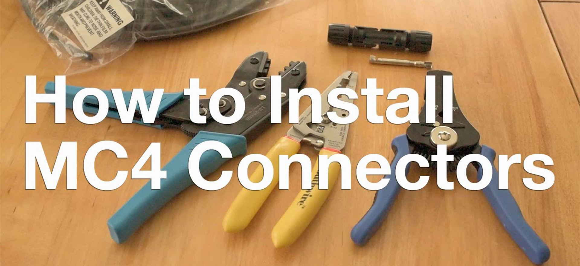 How to Install MC4 Connectors
