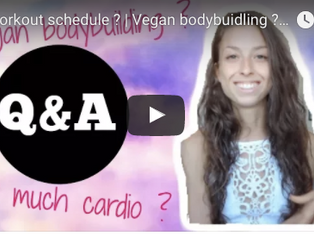My workout schedule ? Vegan bodybuidling ? How to get lean ?   Q&A TIME