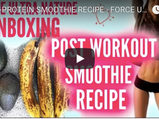 POST WORKOUT SMOOTHIE RECIPE + GIVEWAAAAY !