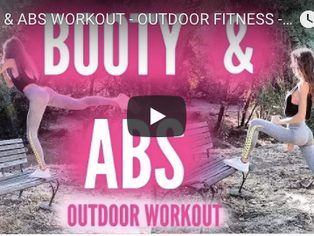 BUTT & ABS WORKOUT - OUTDOOR FITNESS - You Can Do Anywhere - Shape and Tone
