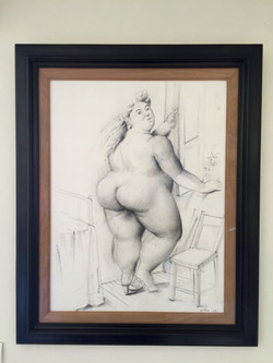 Botero - Woman in front of Window Framed