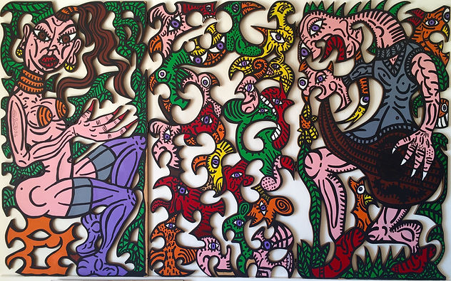 robert combas steven graven galerie toile