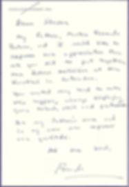 Fernando Botero Zea Letter