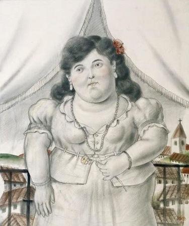 botero fernando steven graven woman on paper