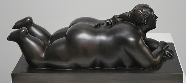 Botero woman lying