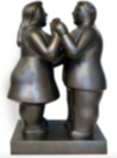 botero fernando sculpture dancing couple steven graven