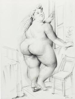 Woman Window Botero