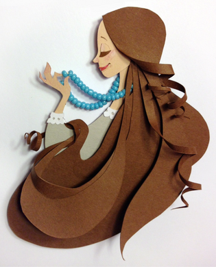 Marian with Beads
