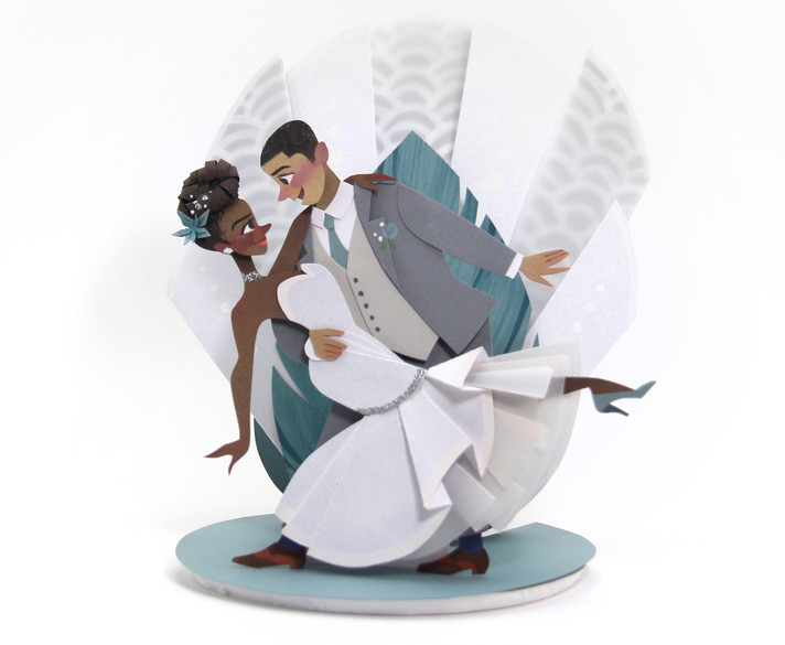 Black Love Custom Wedding Cake Topper