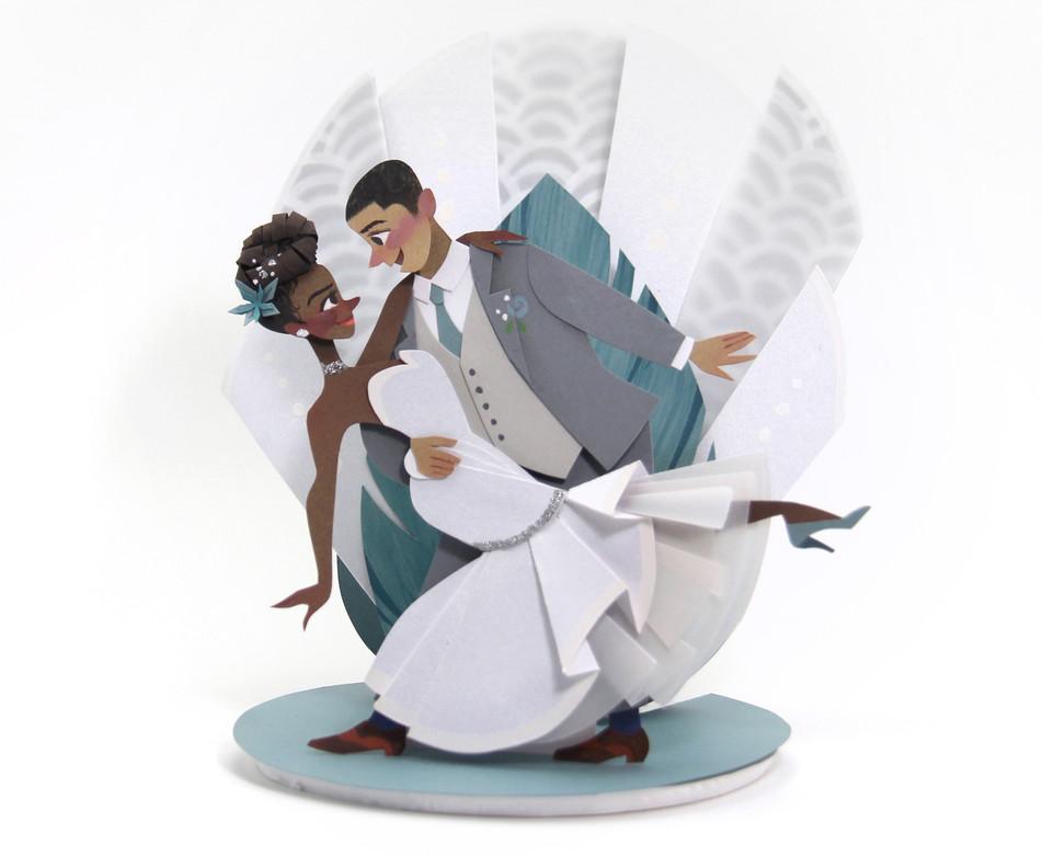 Black Love Custom Wedding Cake Topper