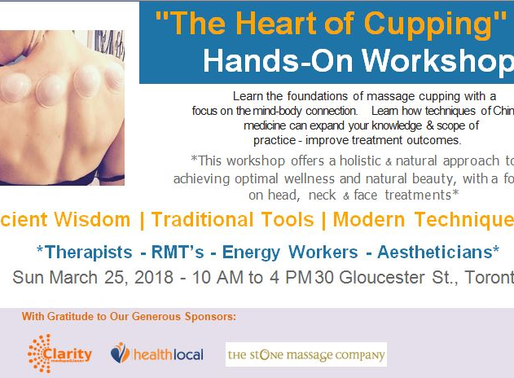 The Heart of Cupping: Cupping & Guasha Hands-on Workshop  for Practitioners and Aestheticians