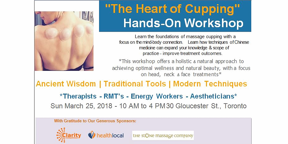 The Heart of Cupping - Head, Face & Neck: Mar 25, 2018