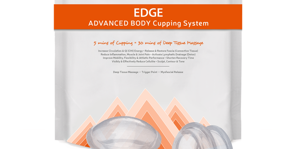 EDGE Body Massage Cupping Kit Clear/Blue for Therapeutic Relief