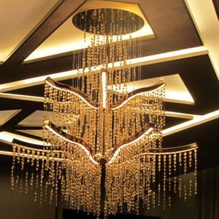 Gold and Swarovski crystal chandelier