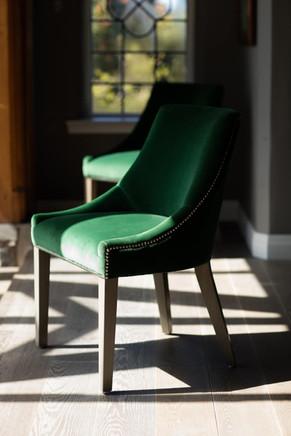 Velvet dining chair