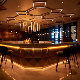 Custom brass bar lights
