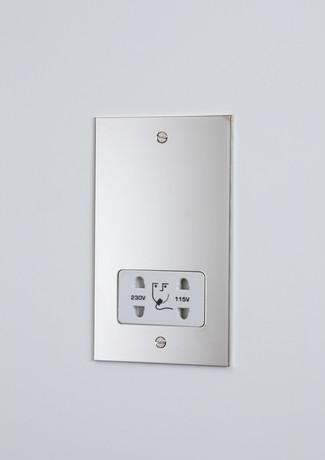 Nickel shaver socket