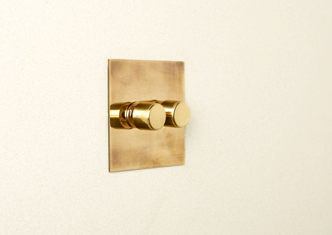 Double aged brass rotary dimmer