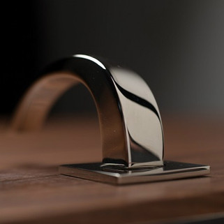 Bright chrome bridge handle