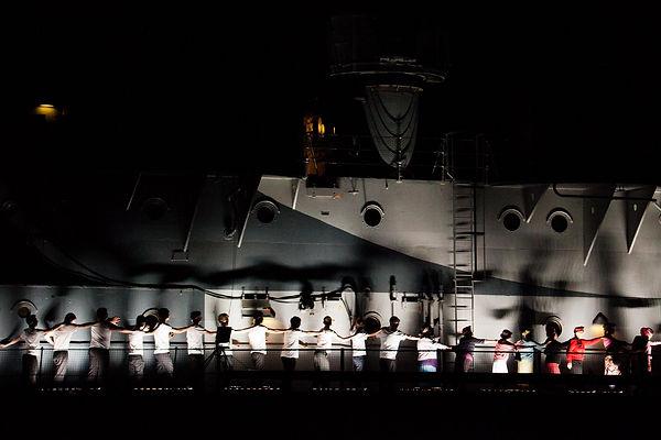 On the HMS Belfast performing XX Scharnhorst