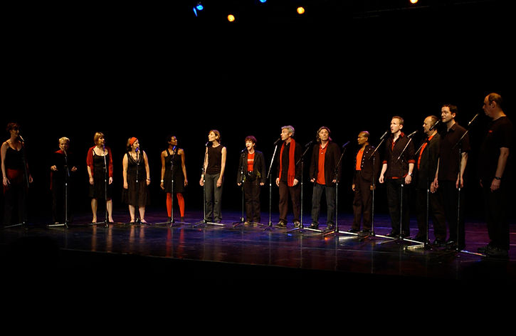 The choir The Shout in performance