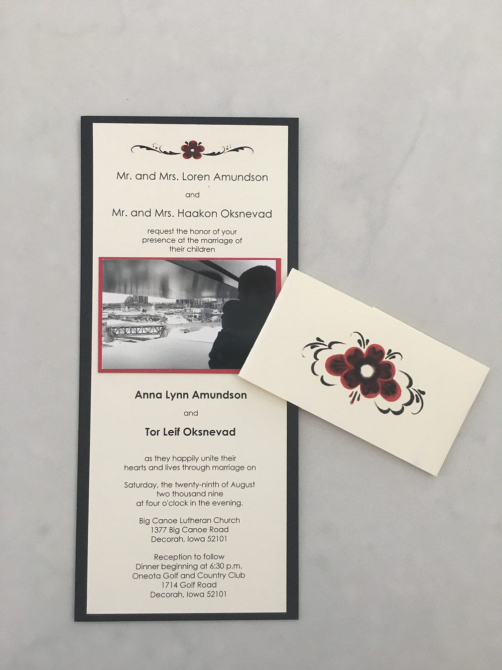 Norwegian Wedding Invite