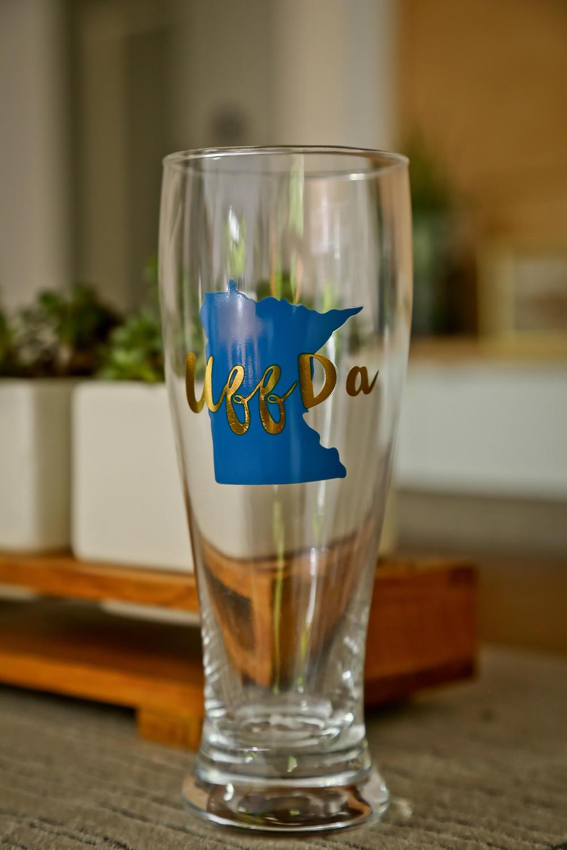 Uff Da beer glass