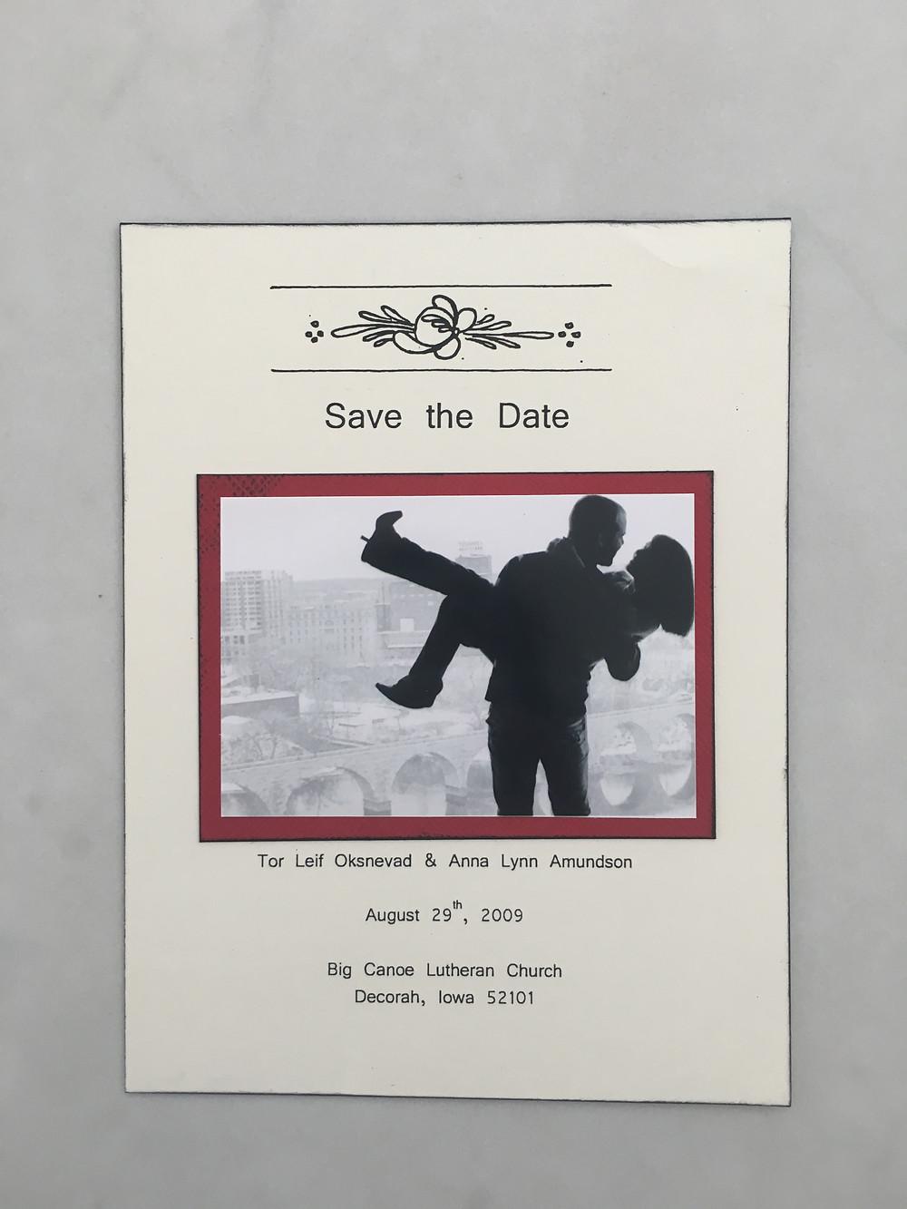 Norwegian Wedding Save the Date