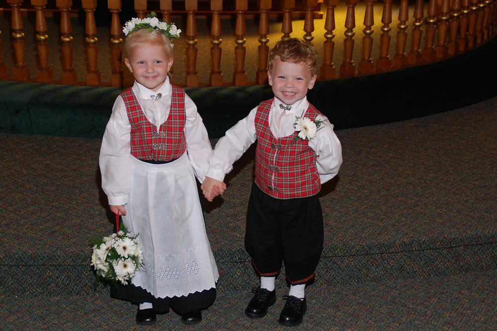 Norwegian Wedding- Flower Girl and Ring Bearer