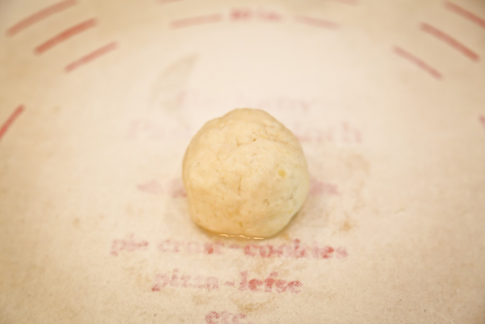 Lefse ball ready to be rolled