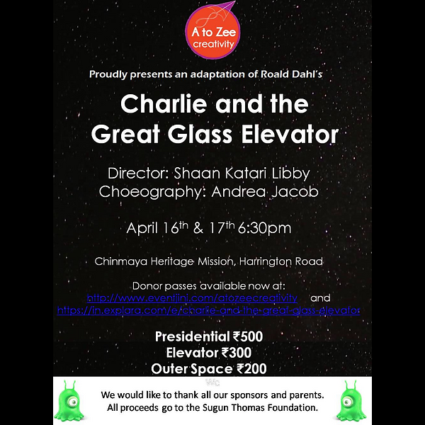 2016: Charlie and the Great Glass Elevator