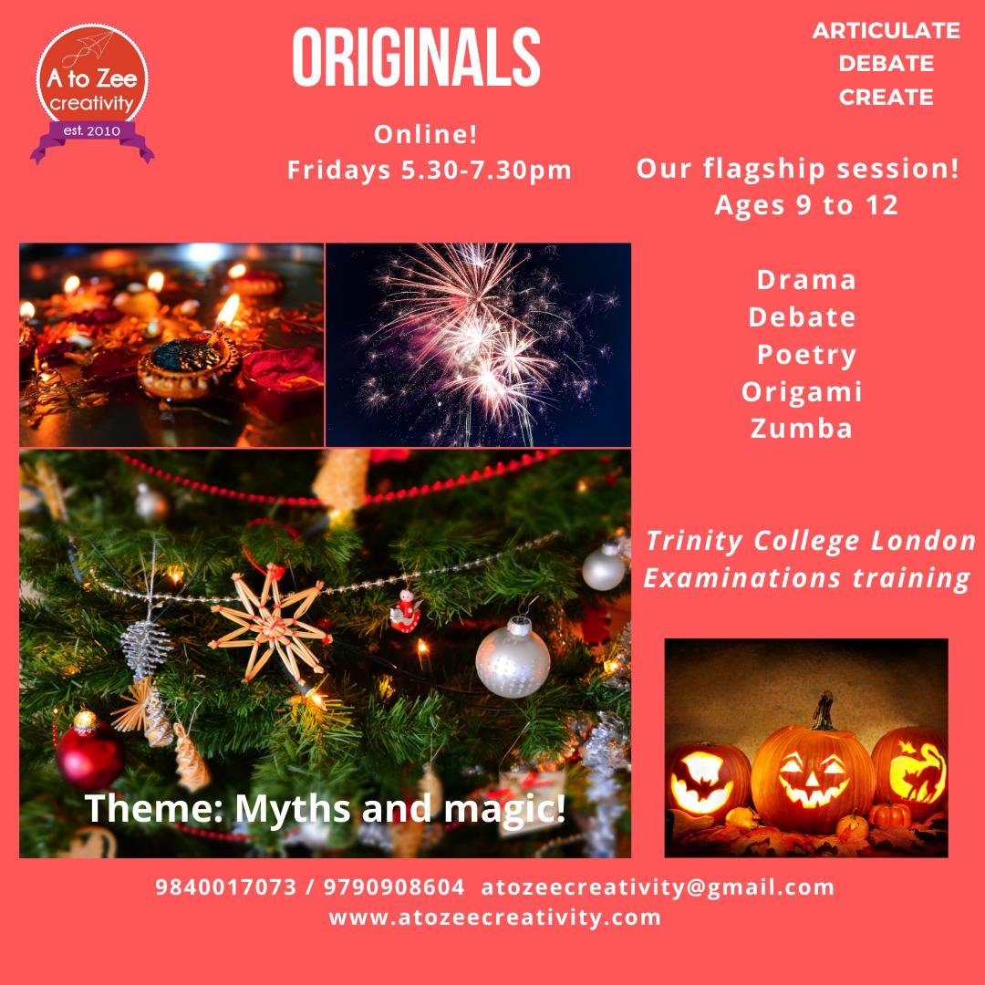 Originals (9-12 yrs) Fridays 5.30-7.30pm