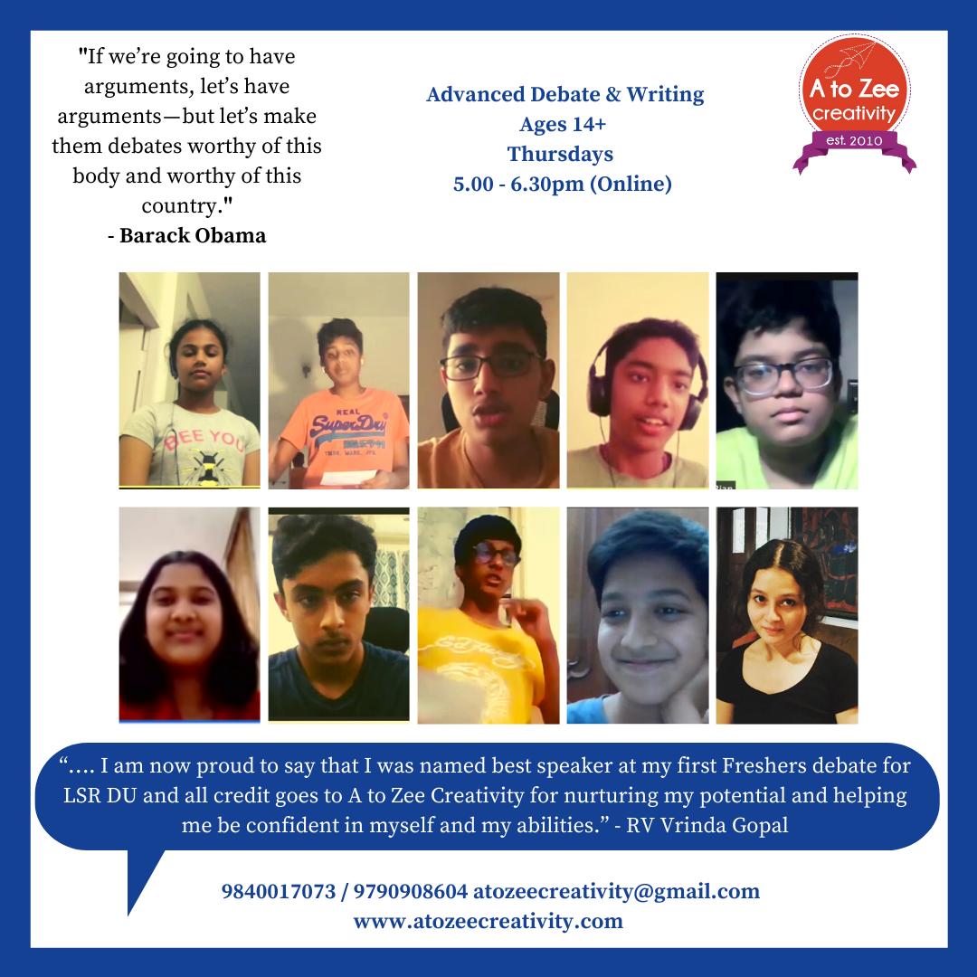 Advanced Debate (14+yrs) (Thu  5-6.30pm)