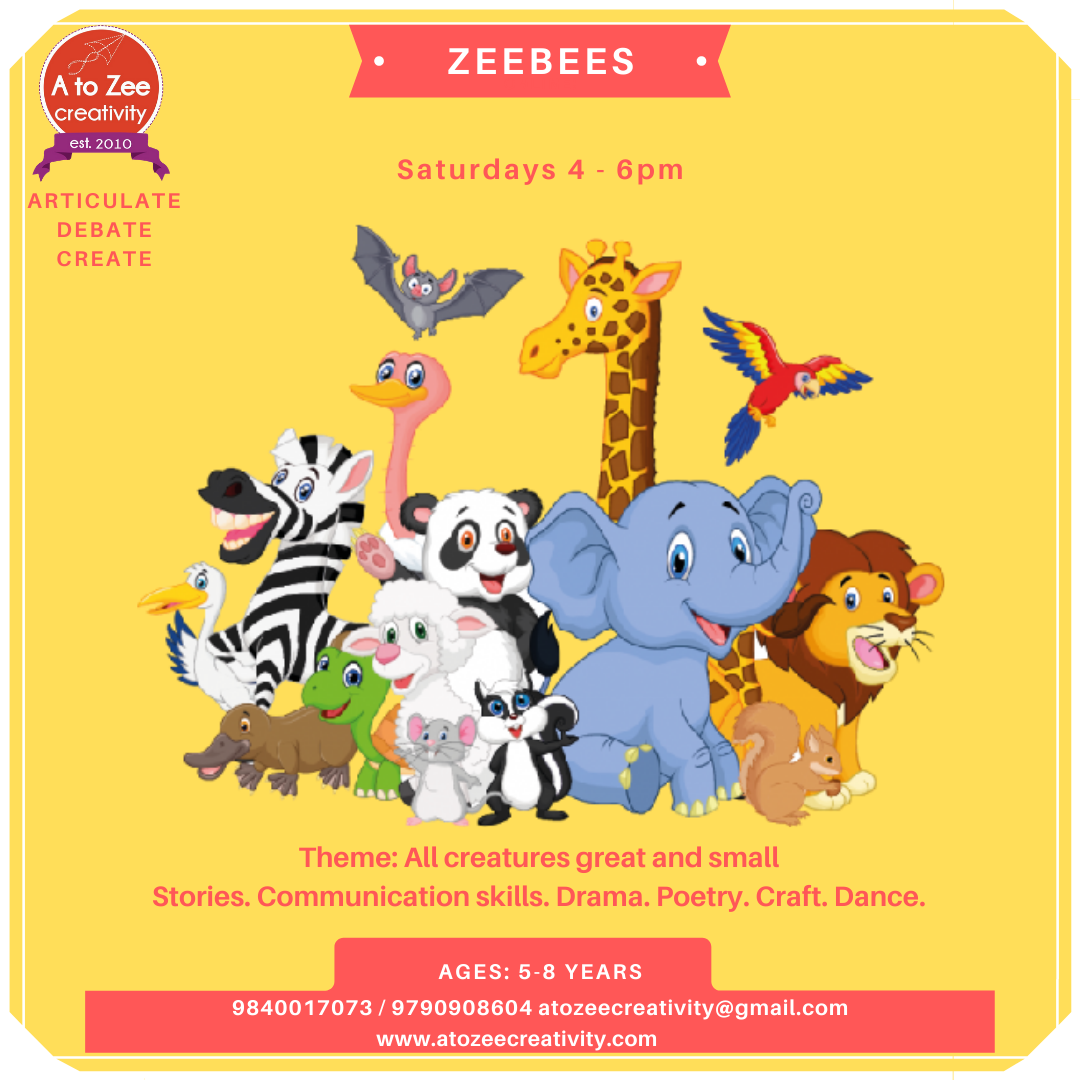 Zeebees (5-8 yrs) Saturdays 4-6pm