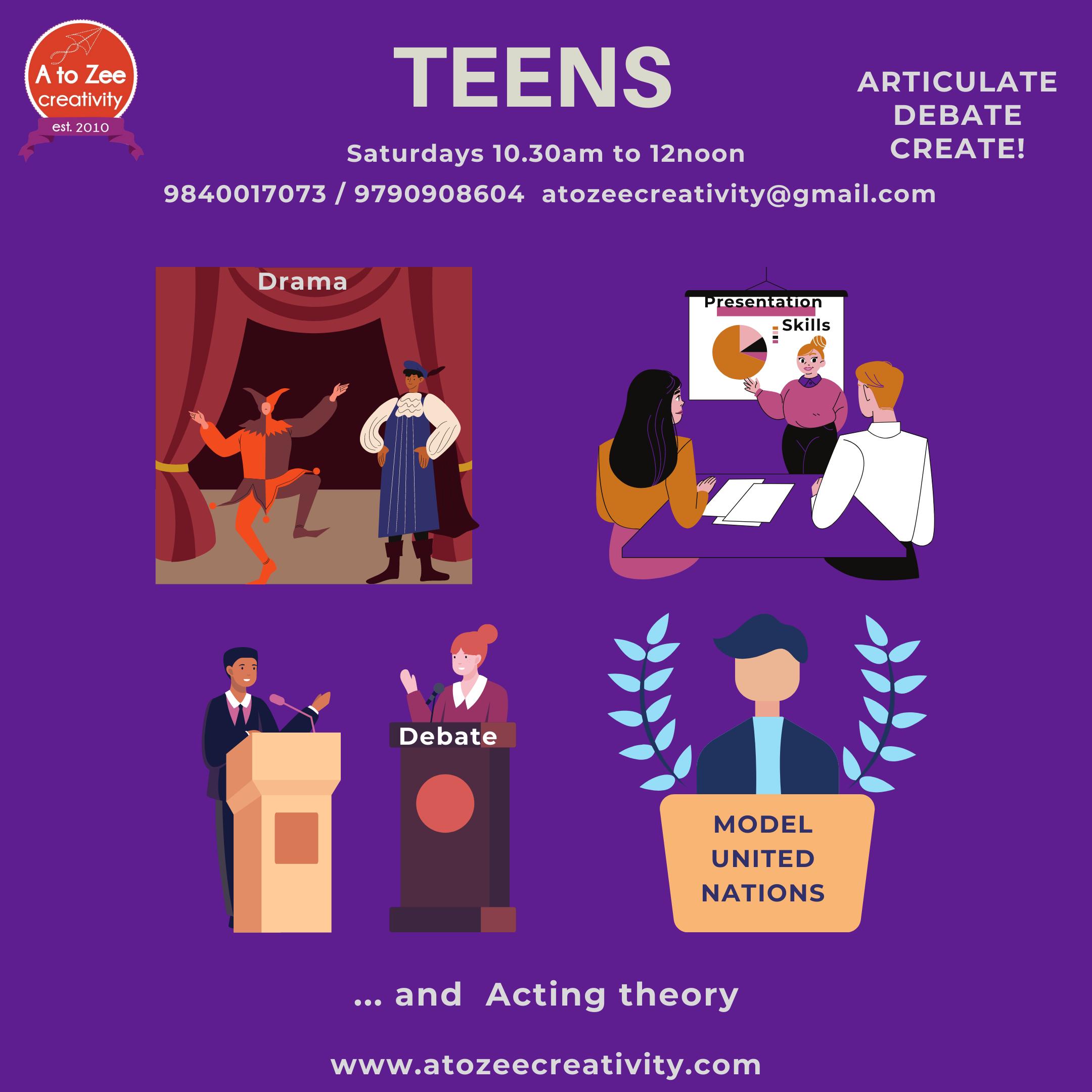 Teens (13+ yrs) - Sat 10.30am-12pm