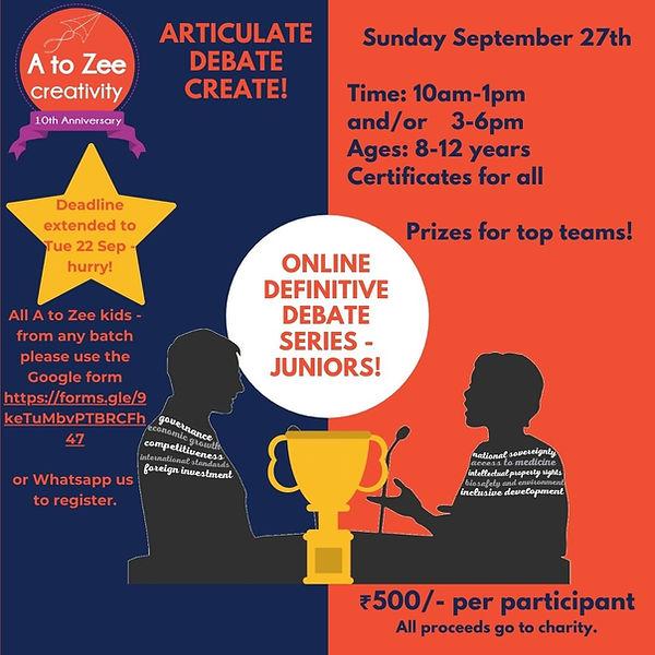 Online Definitive Debate Juniors