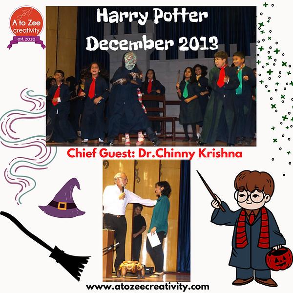 2013: Dr.Chinny Krishna speech, Harry Potter