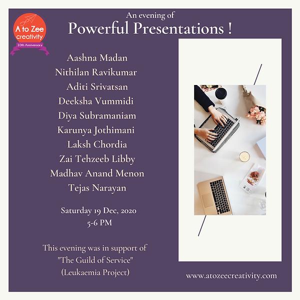 2020: Powerful Presentations