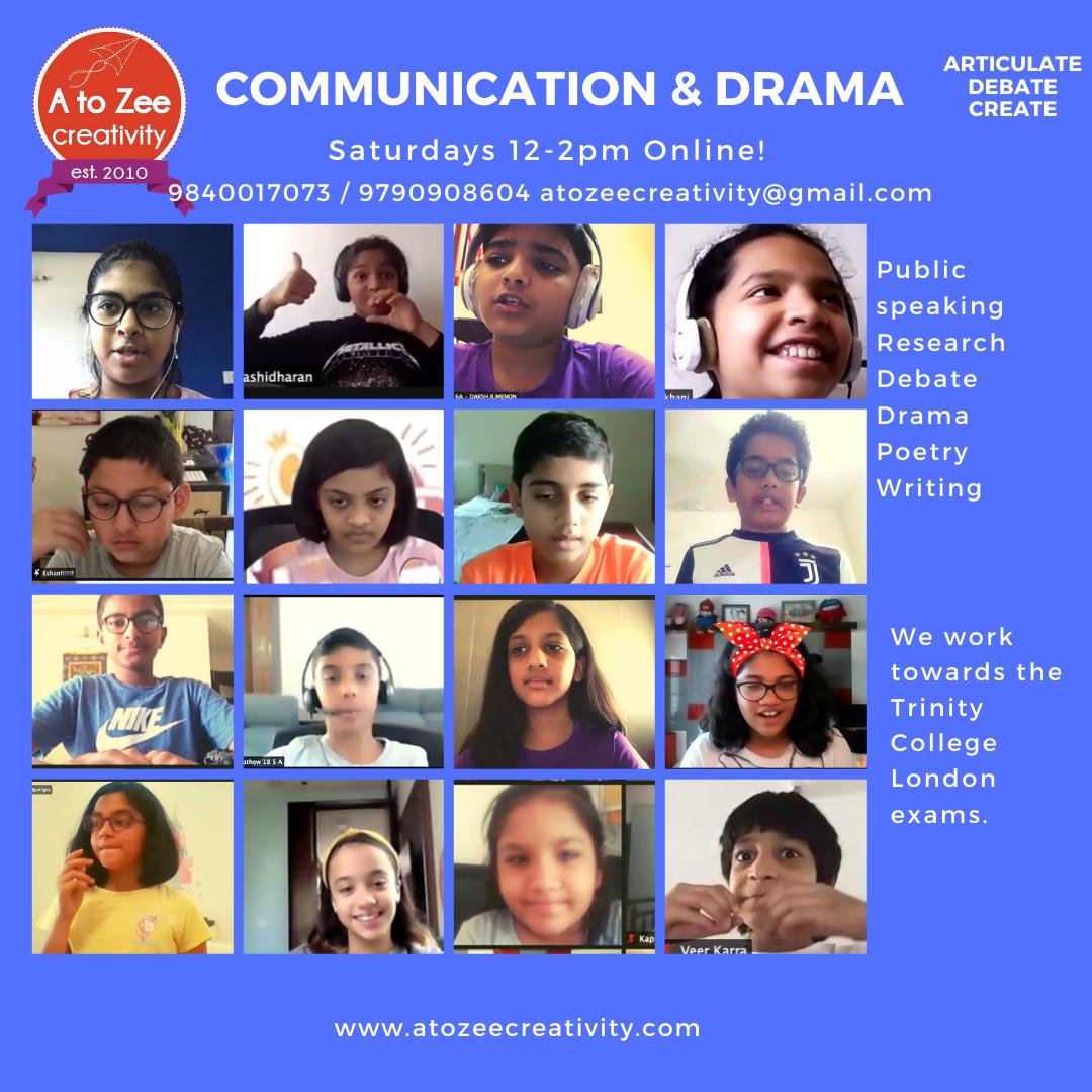 Comm & Drama (9-12 yrs) (Sat 2-4pm)